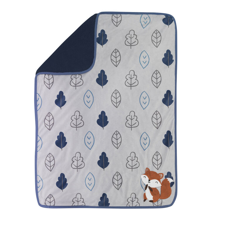 Lambs & Ivy - Little Campers Blanket - Blue