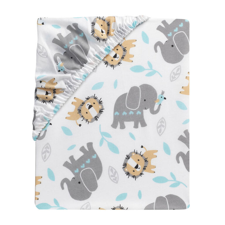 Bedtime Originals - Jungle Fun 3-Piece Crib Bedding Set - Gray