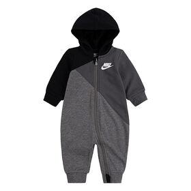 Nike Coverall - Black, 0-3 newborn