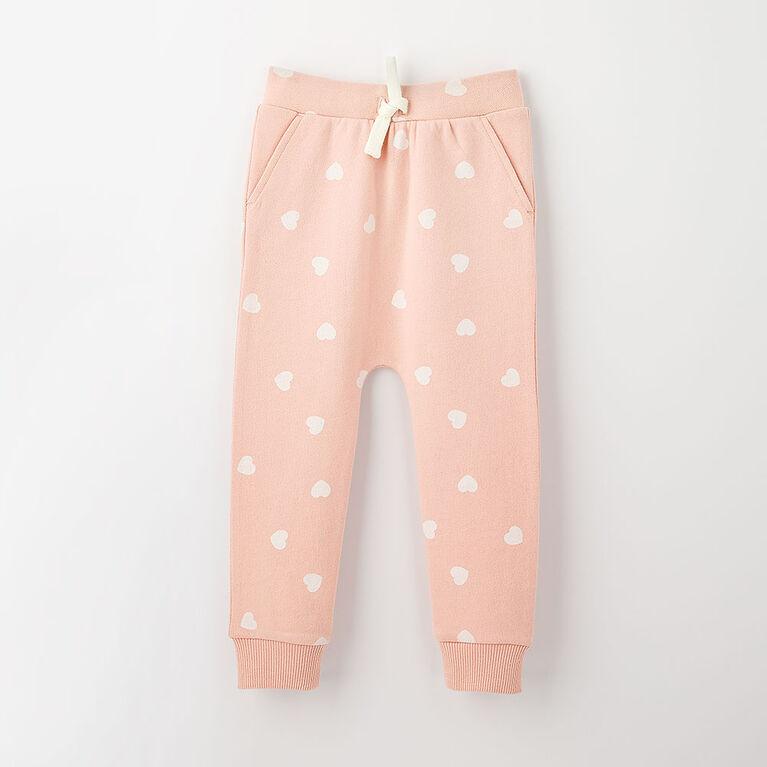 drop-crotch cozy sweats, 6-9m - light pink