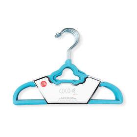 Coco-18 Pack De 10 Cintre En Velours De Voiture Bleu