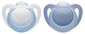 NUK Newborn Orthodontic Pacifiers, 0-2 Months, 2-Pack