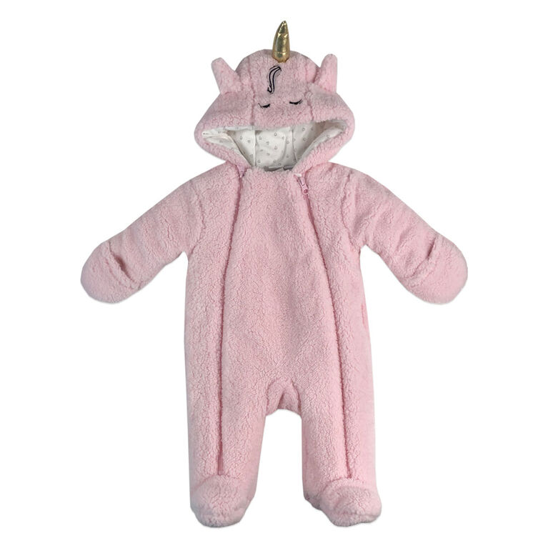 Rococo Sherpa Pramsuit - Pink, 3-6 Months