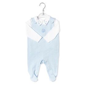 Rock a Bye Baby - Boys 2 Piece Dungaree Set : Star - 0-3 Months