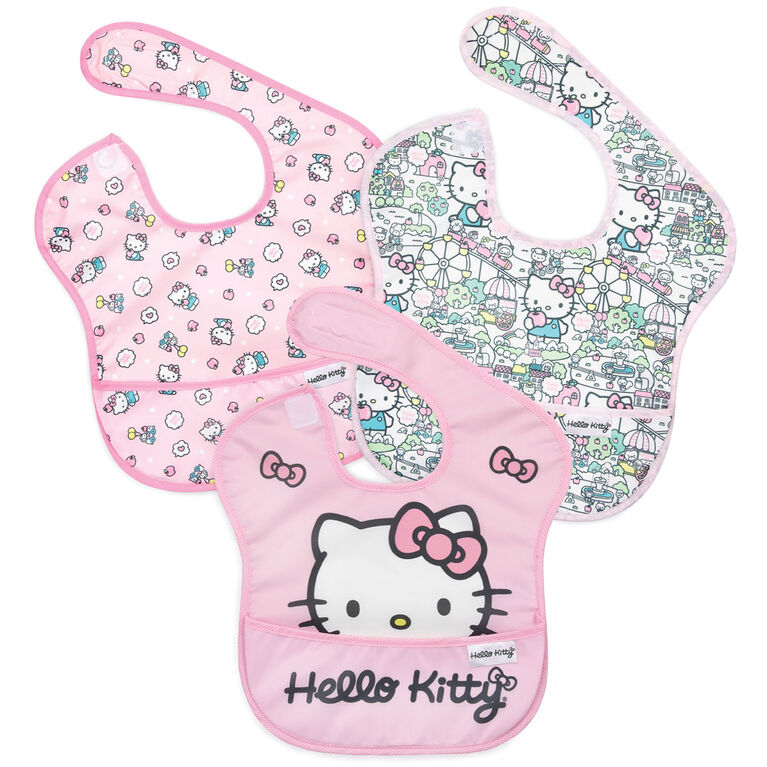 Bumkins Hello Kitty SuperBib, 6-24 mois, pack de 3 - Hello Kitty