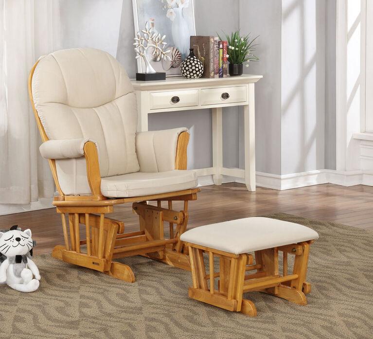 Lennox Furniture Blake Honey Glider & Ottoman - Wheat