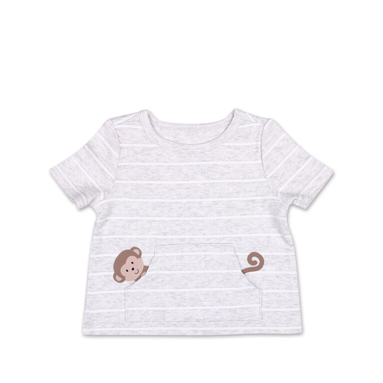 Tee-shirt manches courtes à poche Koala Baby singe  -18 mois