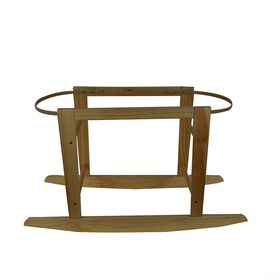 KidiComfort Wooden Bassinet Stand - Natural