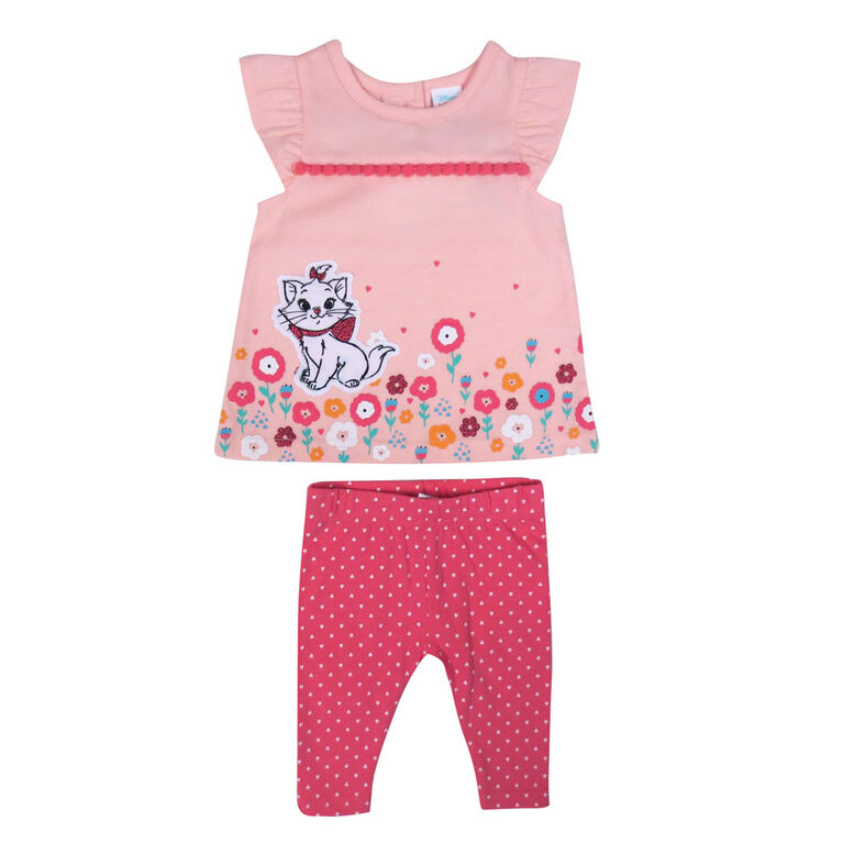 Disney Marie 2-Piece Legging Set - Pink, 6 Months