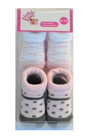 Tickle-toes 2-Pack Socks - 0-12 months