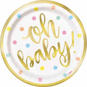 """Oh Baby""  7""  Plates 8 pieces - English Edition"
