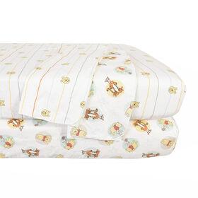 Disney Winnie the Pooh, regarde les étoiles, ensemble de chambre de bébé confortable de 4 pièces