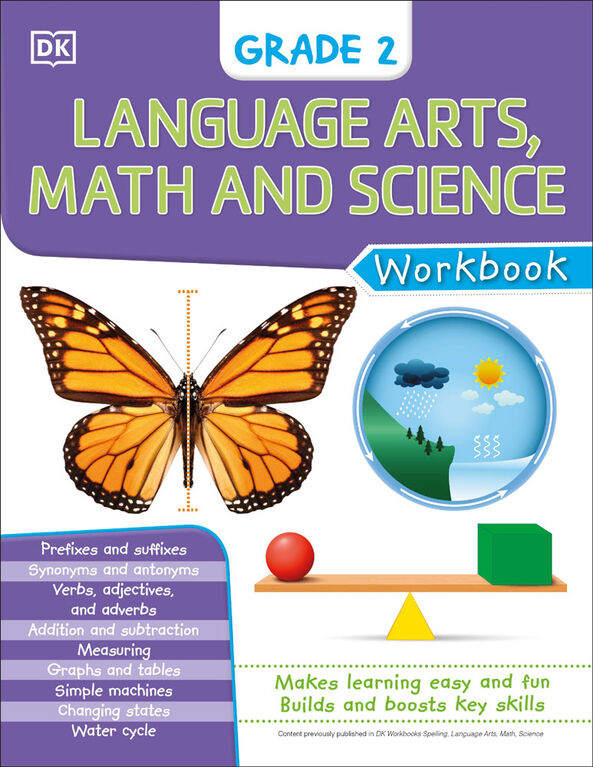 DK Workbooks: Language Arts Math and Science Grade 2 - Édition anglaise