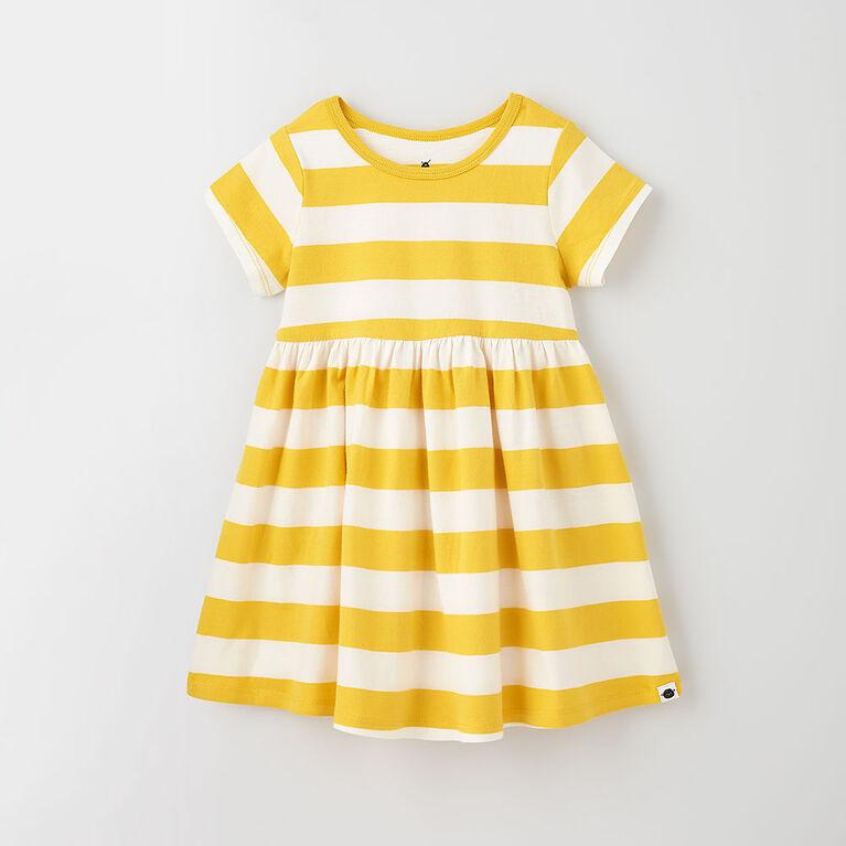 too cute twirl dress, 12-18m - bamboo stripe