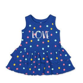 Robe sans manches à pois multicolores «Love» avec jupe à volants Koala Baby, 0-3 Mois