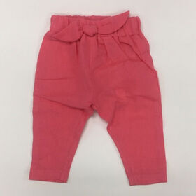 Coyote and Co. Fushia Pink Linen-look Pull on Pant - size 6-9 months
