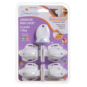 Dreambaby Adhesive Mag Lock - 4 Locks & 1 Key
