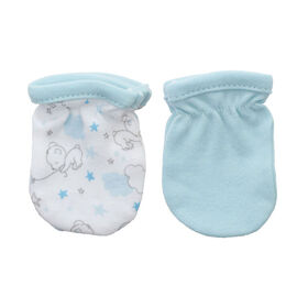 Koala Baby 2-Pack Scratch Mittens - Blue Bear