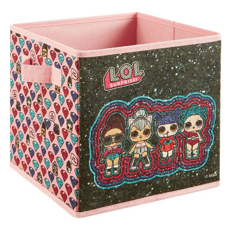 """9"""" Soft Storage Bin- Lol Glitter"""