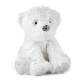 Levtex Baby Bailey White Bear Plush with Herringbone Accents