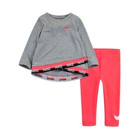 Nike Ensemble Tunique et Legging - Rose, 24 mois