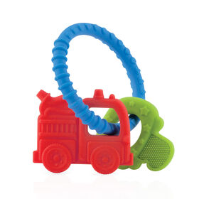 Nuby Chewy Charms Soothing Teether - Fire Truck