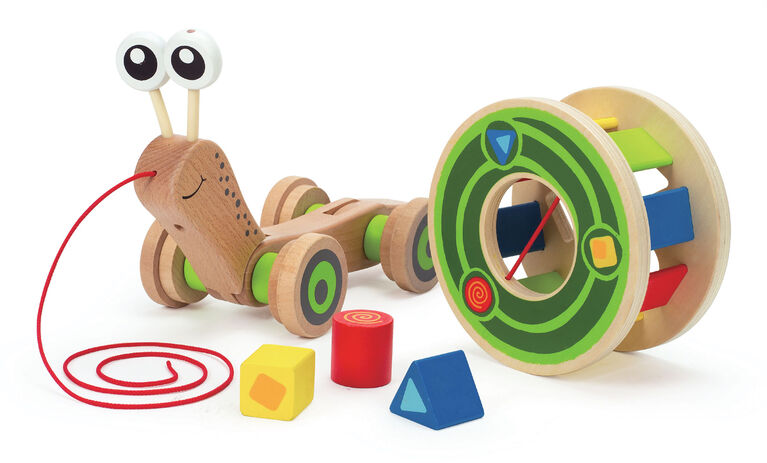 Hape Walk-A-Long Snail - English Edition
