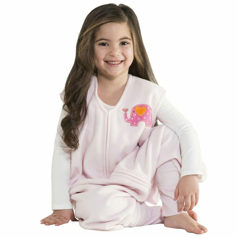HALO SleepSack Big Kids Micro-Fleece - Pink Elephant - 2/3T