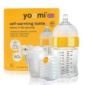 yoomi Feeding System 8oz Easy-Latch™ Bottle with Warmer and Quick Pod Recharger