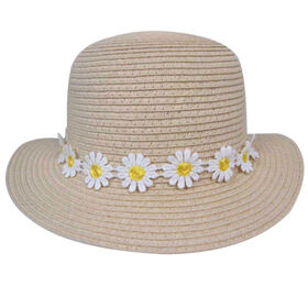 Baby B - Straw Hat - Daisy, Natural, 12-24M