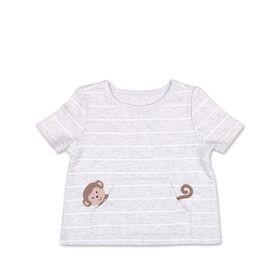 Koala Baby Short Sleeved Monkey Pocket Tee - 3-6 Months