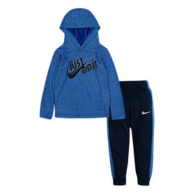 Nike Top and Jogging Pant Set - Blue, 24 Months