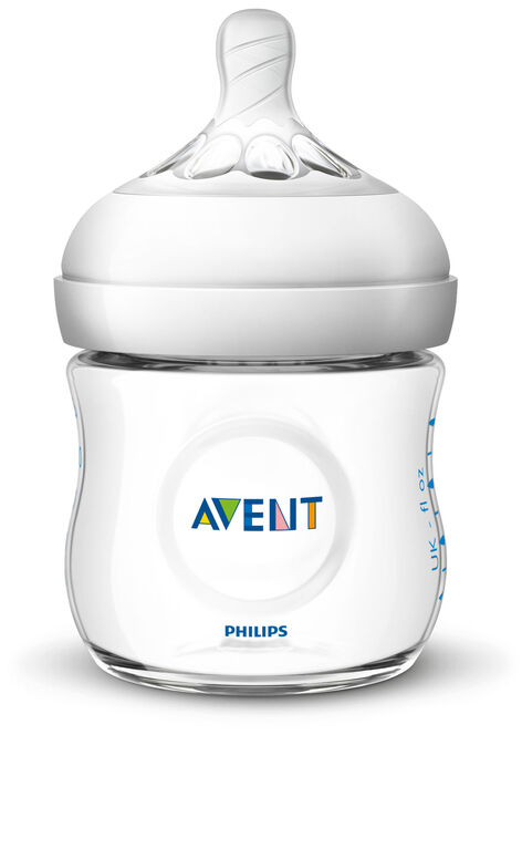 Biberon Philips Avent Naturel, transparent, 4 oz, emb. de 3.
