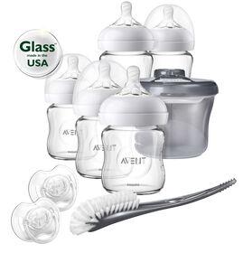 Ensemble de démarrage pour nouveau-né avec biberons Naturels en verre Philips Avent - Notre exclusivité