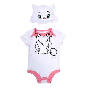 Disney Marie 2-Piece Bodysuit and Hat Set - Pink, 9 Months