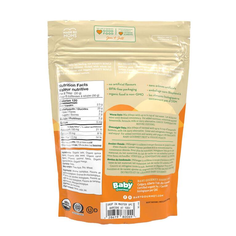 Carrot Mango Coconut Oatmeal Bags Bowls