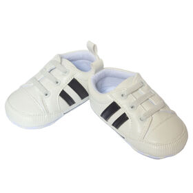 So Dorable White And Black Sneakers size 0-6 months