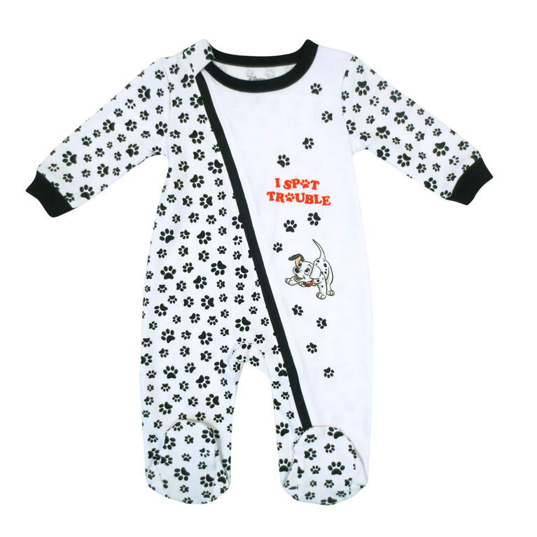 Disney Dalmations 1-Piece Sleeper - White,  3 Months
