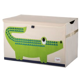 3 Sprouts Toy Chest Crocodile - Green