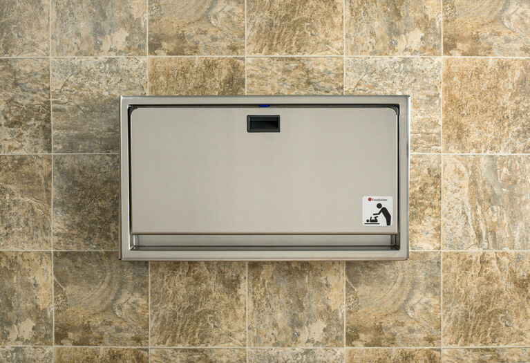 Foundations Stainless Steel Horizontal Surface Mount Baby Changing Station