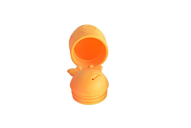 Jouet de bain qui fait jaillir de l'eau, fait de silicone - Lola la girafe.