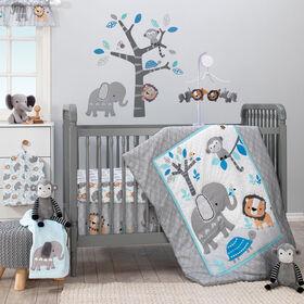 Bedtime Originals - Jungle Fun 3-Piece Crib Bedding Set - Gray