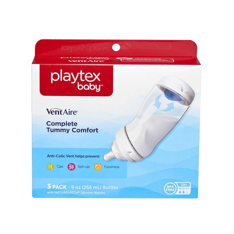 Ventaire Biberon Modèle Large 9 oz boîte de 3 Playtex.