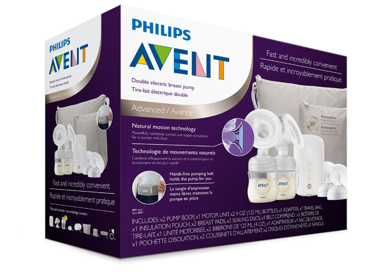 Philips Avent Double Electric Breast Pump, SCF394/71 - R Exclusive