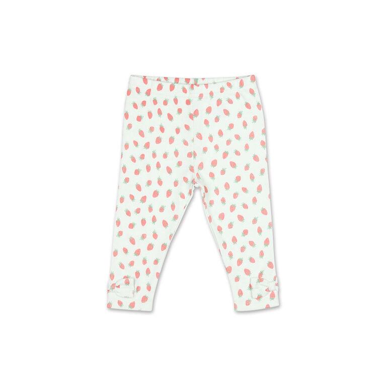 Koala Baby Strawberries Rolled Sleeve Top/Legging 2 Piece Set, 6-9 Months
