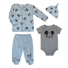Disney Mickey Mouse Newborn Take me home set - Blue ,6 Months