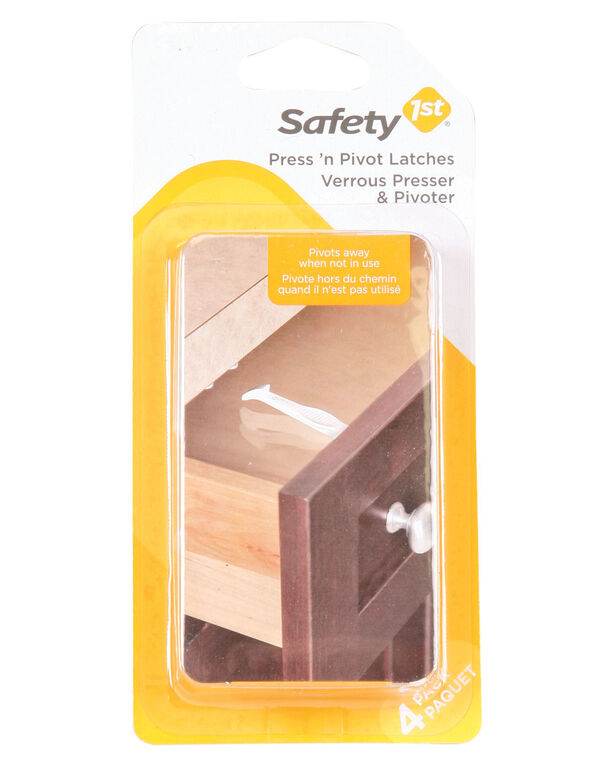 Safety 1st verrou Press n' Pivot - paquet de 4.