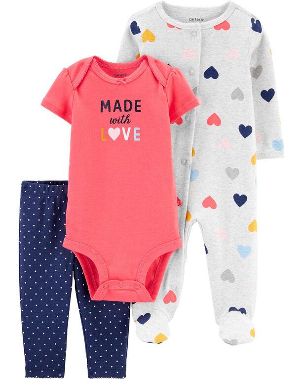Carter's 3-Piece Sleep & Play & Bodysuit Set Assorted - 3 Months