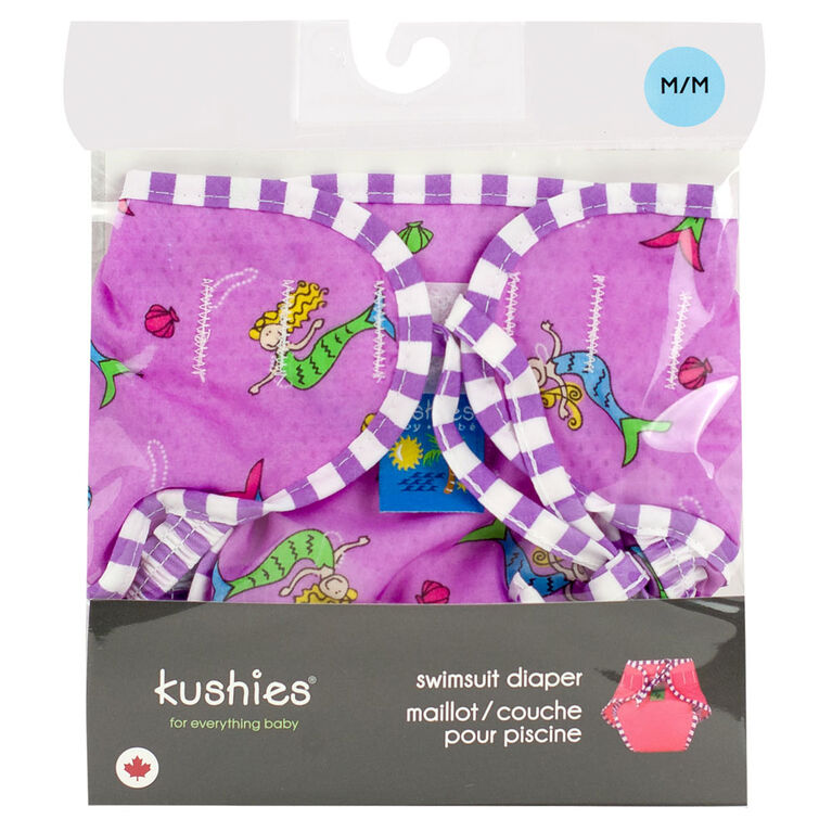 Kushies Swim Diaper, Large - Mermaids Print
