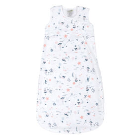 Sleepbag-Muslin-Allover Mermaids(0,7Tog) 0-6 Months
